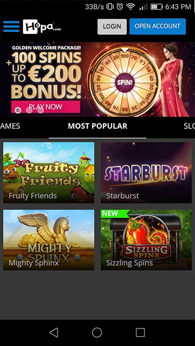 download spin palace mobile casino