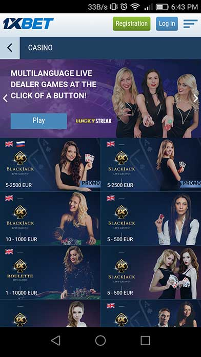 1xBet Casino - Gambling Apps Store