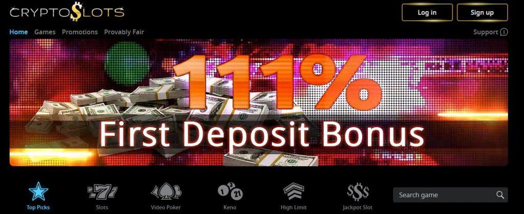 Crypto Slots No Deposit Bonus