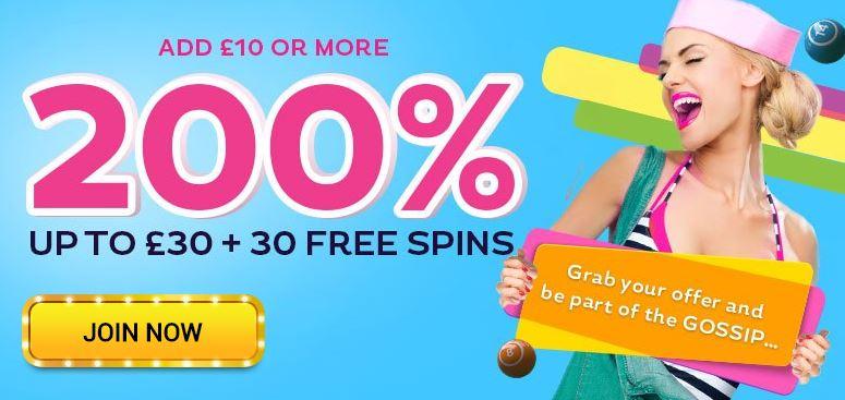 Gossip Bingo Promotion