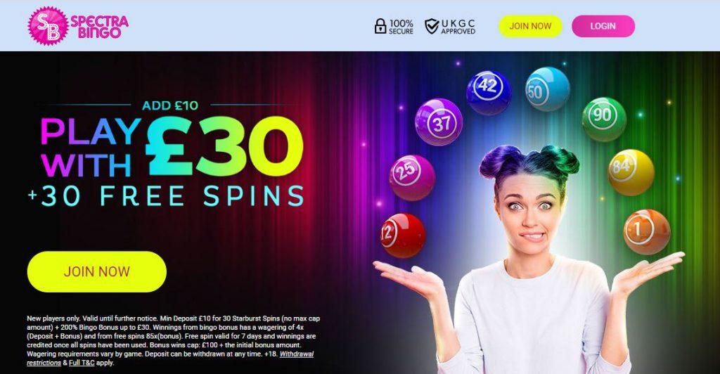 Spectra Bingo Promotion